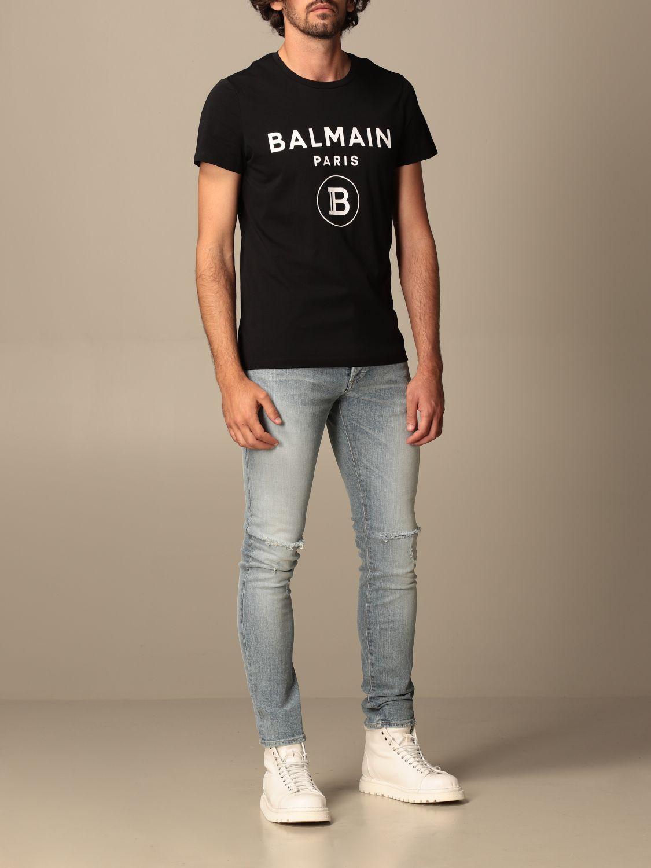 T-shirt Balmain: Balmain cotton T-shit with logo black 2