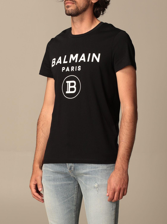 T-shirt Balmain: Balmain cotton T-shit with logo black 4