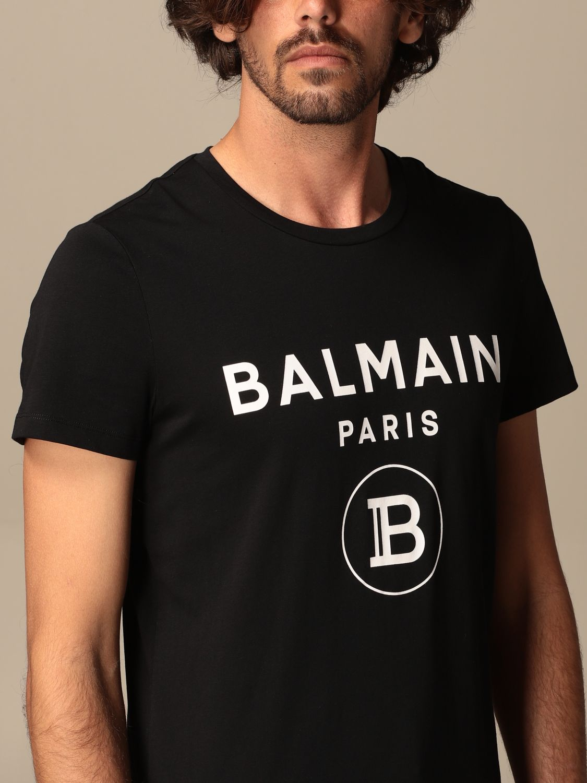 T-shirt Balmain: Balmain cotton T-shit with logo black 5
