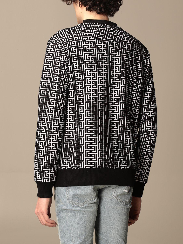 Sweatshirt Balmain: Balmain crewneck sweater in with all-over monogram black 3