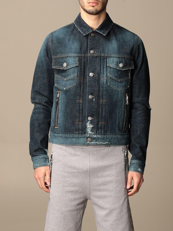 Jacket Balmain: Balmain denim jacket with tears denim 1