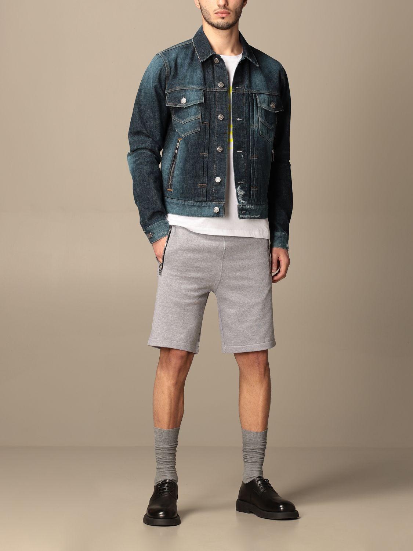 Jacket Balmain: Balmain denim jacket with tears denim 2