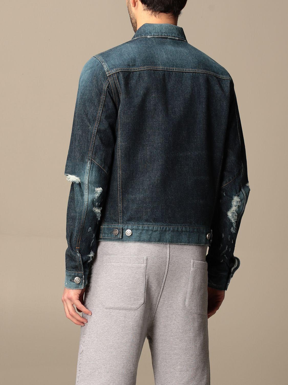 Jacket Balmain: Balmain denim jacket with tears denim 3