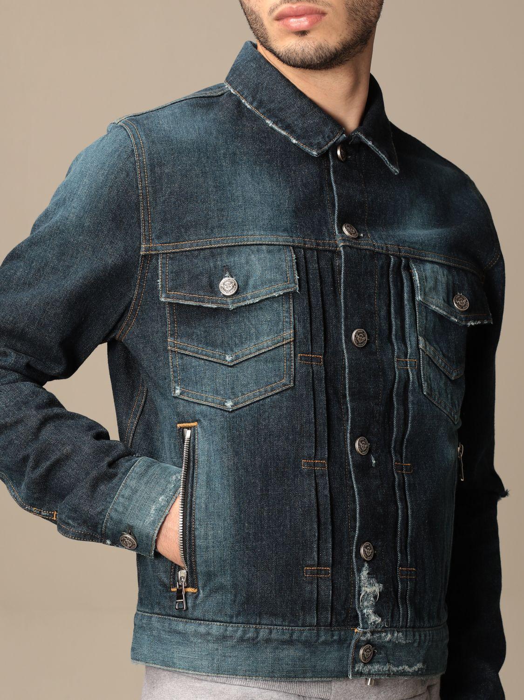 Jacket Balmain: Balmain denim jacket with tears denim 4