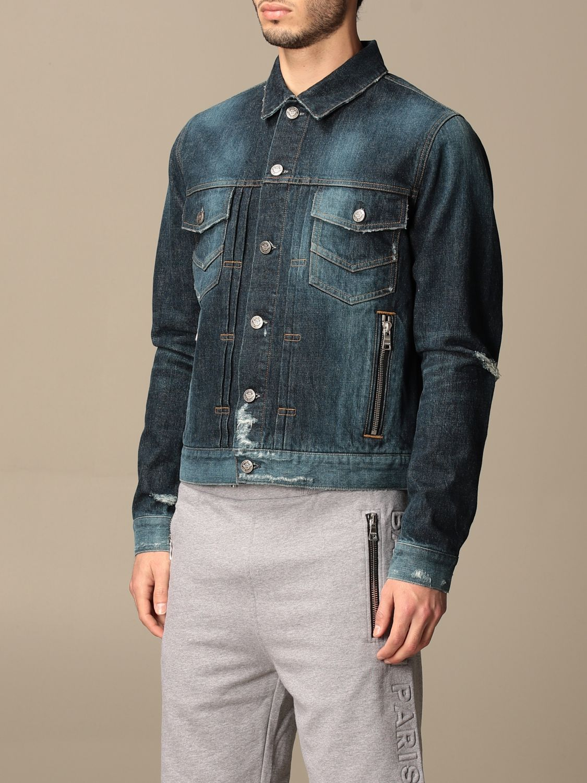 Jacket Balmain: Balmain denim jacket with tears denim 5