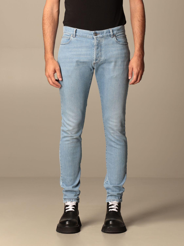 Jeans Balmain: Jeans Balmain in denim used con logo denim 1