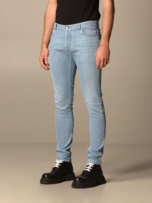 Jeans Balmain: Jeans Balmain in denim used con logo denim 4