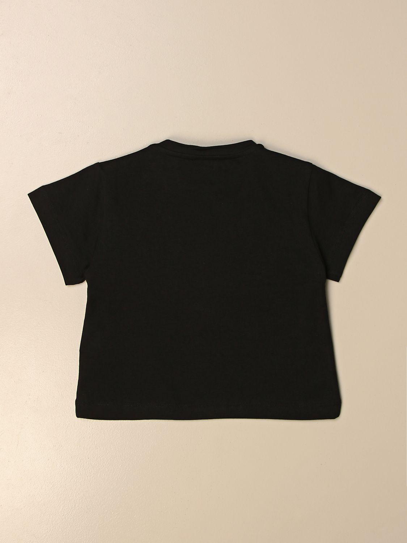 T-shirt Elisabetta Franchi: T-shirt Elisabetta Franchi in cotone con stampa bocca nero 2
