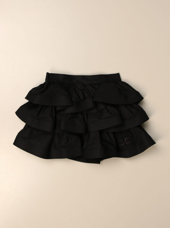 Gonna Elisabetta Franchi: Gonna mini Elisabetta Franchi in cotone a balze nero 1