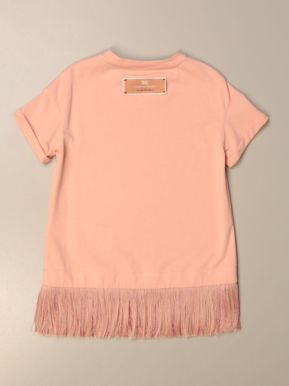 Платье Elisabetta Franchi: Футболка Детское Elisabetta Franchi розовый 2
