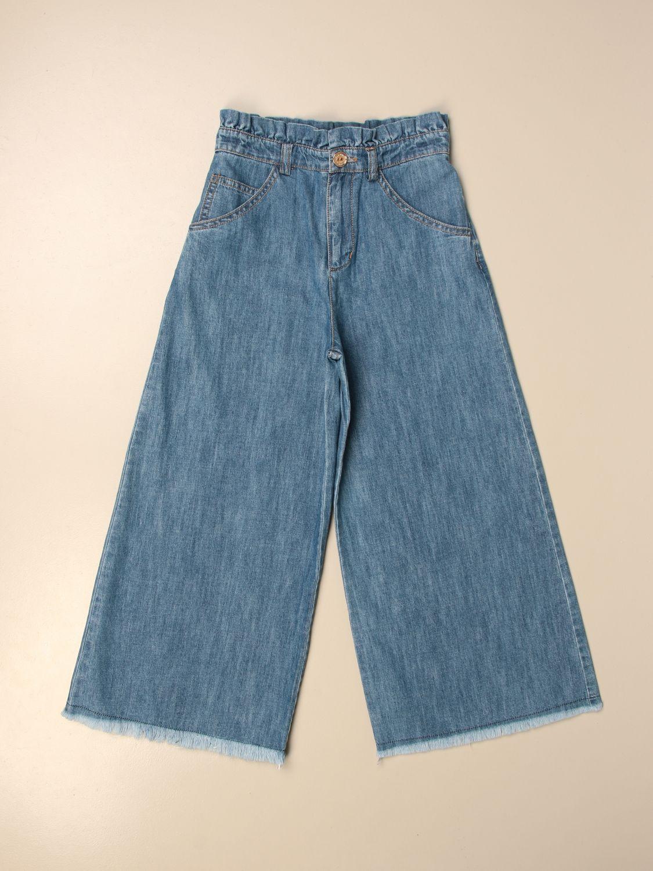 牛仔裤 Elisabetta Franchi: 牛仔裤 儿童 Elisabetta Franchi 石色 1