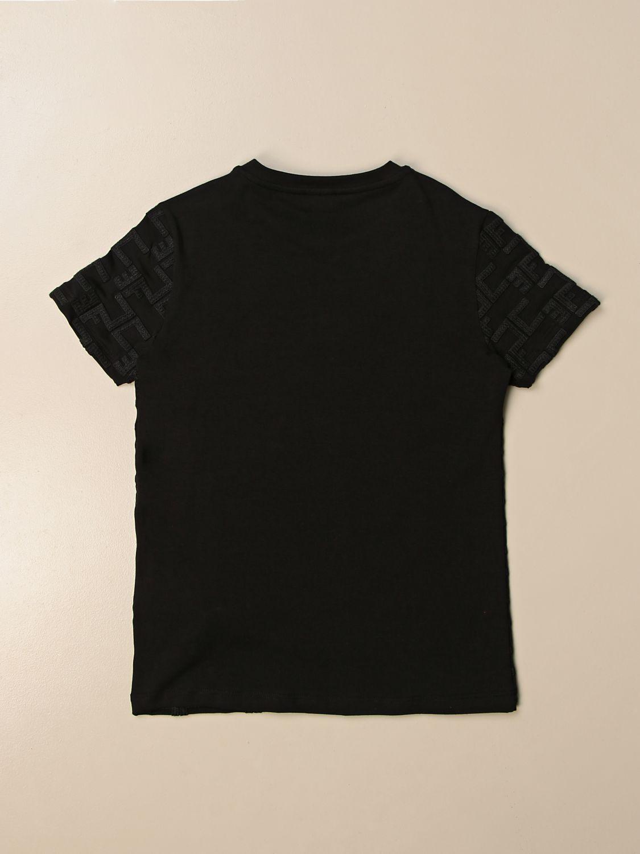 T-shirt Elisabetta Franchi: T-shirt Elisabetta Franchi con logo all over nero 2