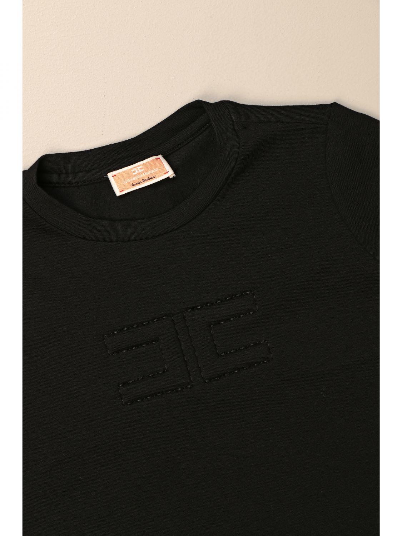 T-shirt Elisabetta Franchi: T-shirt enfant Elisabetta Franchi noir 3