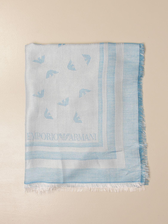 Schal Emporio Armani: Schal damen Emporio Armani hellblau 1