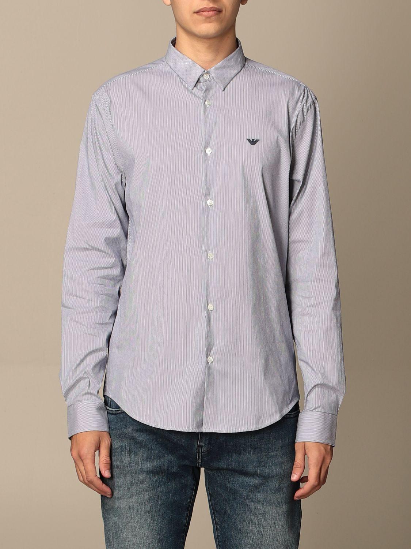 Shirt Emporio Armani: Emporio Armani shirt in stretch poplin blue 1 1
