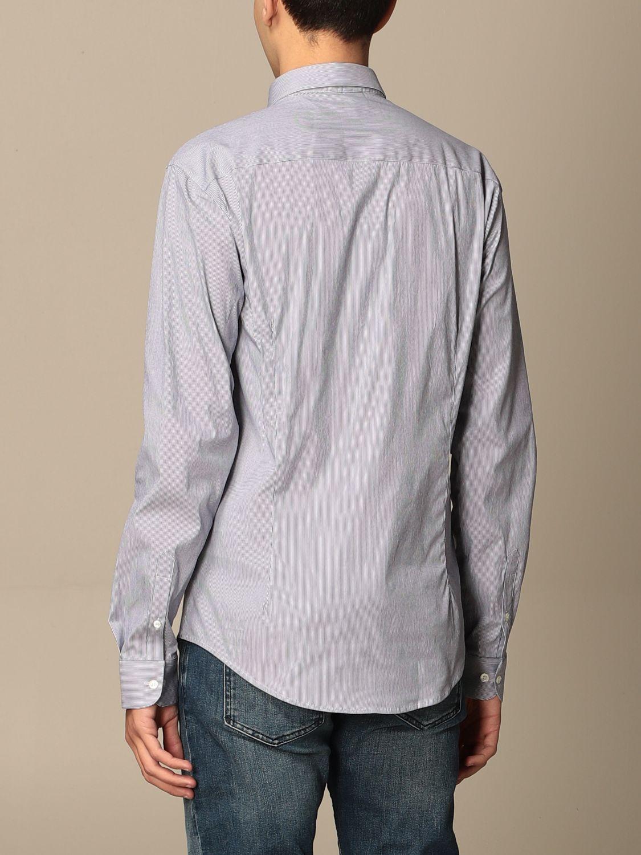 Shirt Emporio Armani: Emporio Armani shirt in stretch poplin blue 1 2