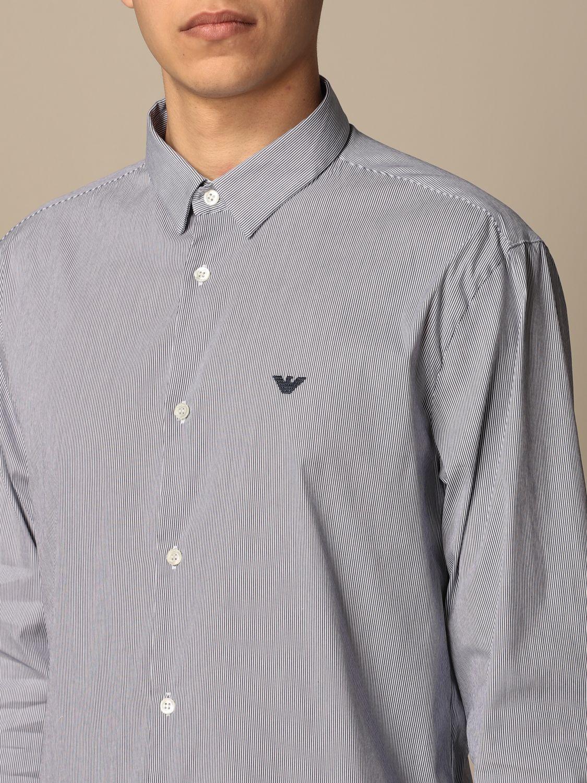 Shirt Emporio Armani: Emporio Armani shirt in stretch poplin blue 1 3
