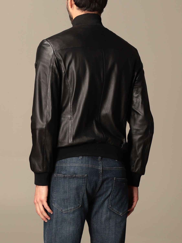Jacket Emporio Armani: Emporio Armani leather bomber jacket black 3