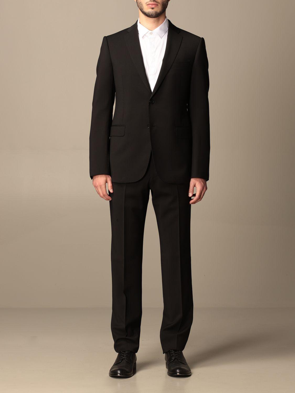 Suit Emporio Armani: Emporio Armani single-breasted suit in wool 238 gr drop 8 black 1