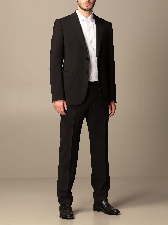 Suit Emporio Armani: Emporio Armani single-breasted suit in wool 238 gr drop 8 black 2