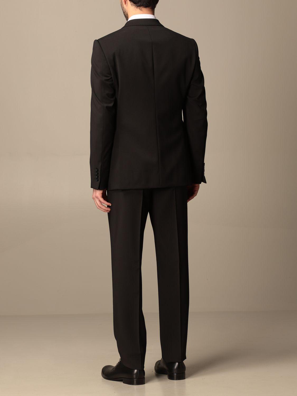 Suit Emporio Armani: Emporio Armani single-breasted suit in wool 238 gr drop 8 black 3