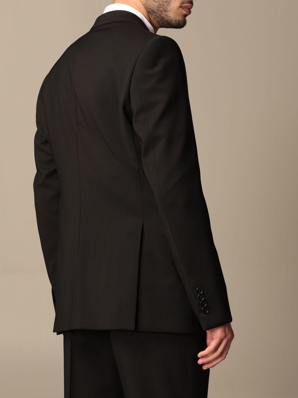 Suit Emporio Armani: Emporio Armani single-breasted suit in wool 238 gr drop 8 black 5