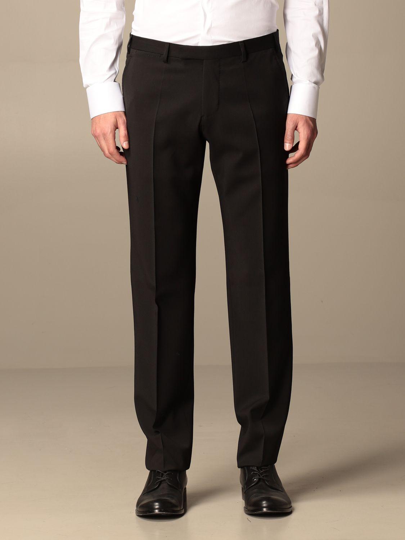 Suit Emporio Armani: Emporio Armani single-breasted suit in wool 238 gr drop 8 black 6
