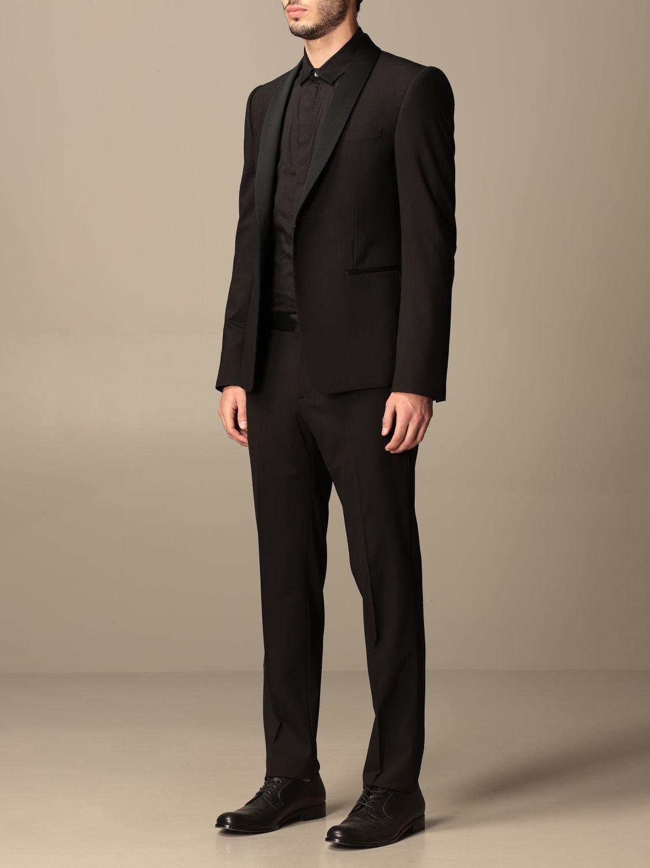 Suit Emporio Armani: Emporio Armani single-breasted suit in wool 238 gr drop 8 black 4