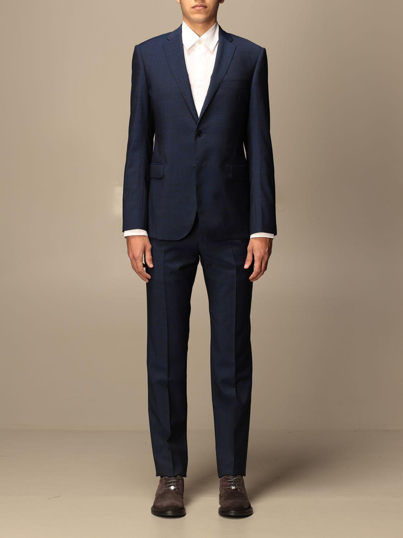 Suit Emporio Armani: Emporio Armani single-breasted suit in wool 213 gr drop 8 indigo 1