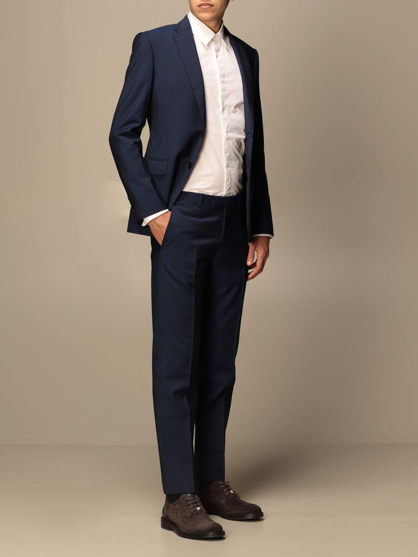 Suit Emporio Armani: Emporio Armani single-breasted suit in wool 213 gr drop 8 indigo 2