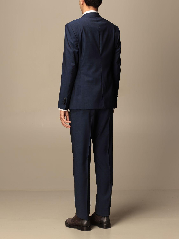 Suit Emporio Armani: Emporio Armani single-breasted suit in wool 213 gr drop 8 indigo 3