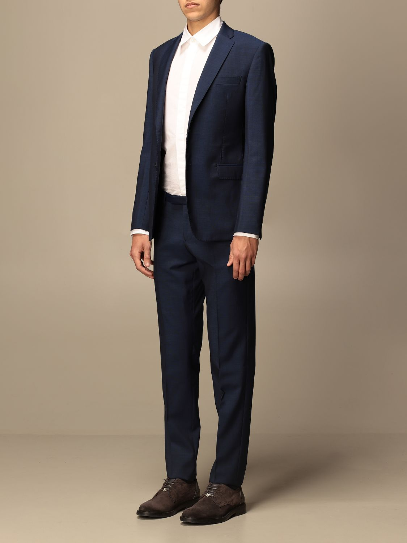 Suit Emporio Armani: Emporio Armani single-breasted suit in wool 213 gr drop 8 indigo 4