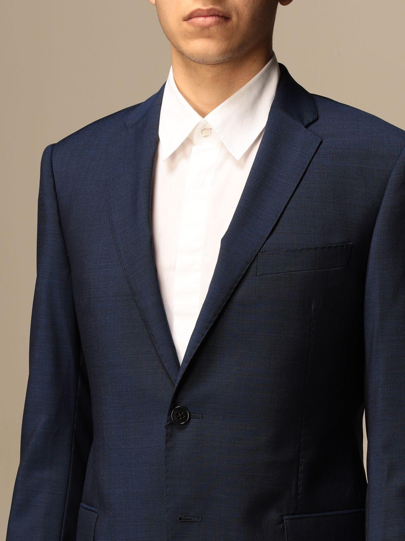 Suit Emporio Armani: Emporio Armani single-breasted suit in wool 213 gr drop 8 indigo 5