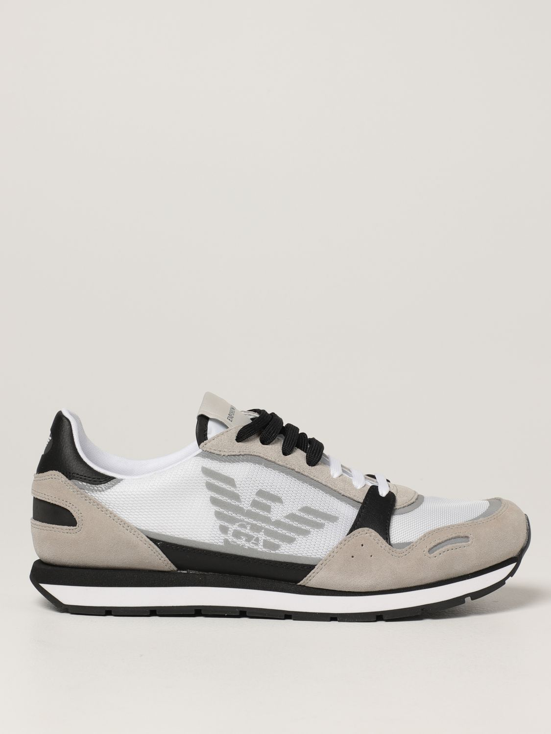 Sneakers Emporio Armani: Emporio Armani sneakers in mesh and suede white 1