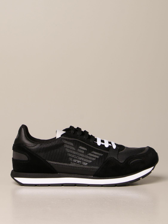 Baskets Emporio Armani: Chaussures homme Emporio Armani noir 1