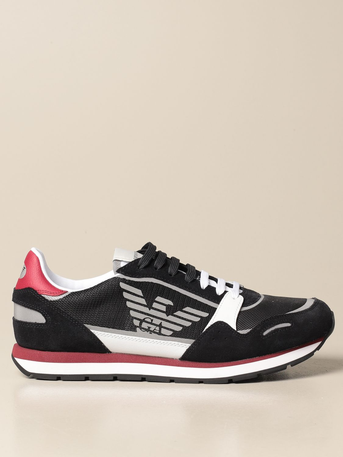 Sneakers Emporio Armani: Emporio Armani sneakers in mesh and suede black 1 1