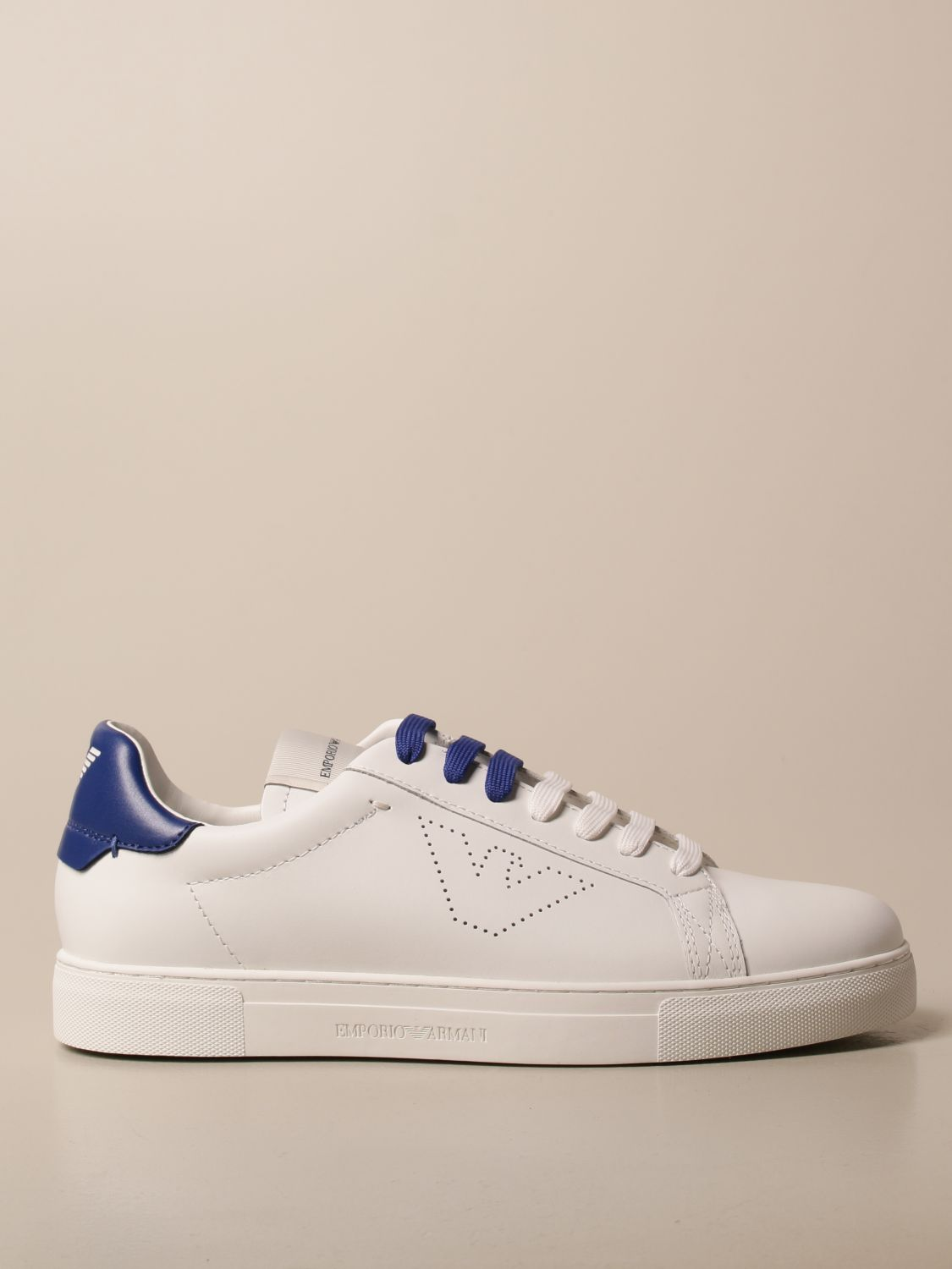 Sneakers Emporio Armani: Emporio Armani sneakers in leather white 2 1