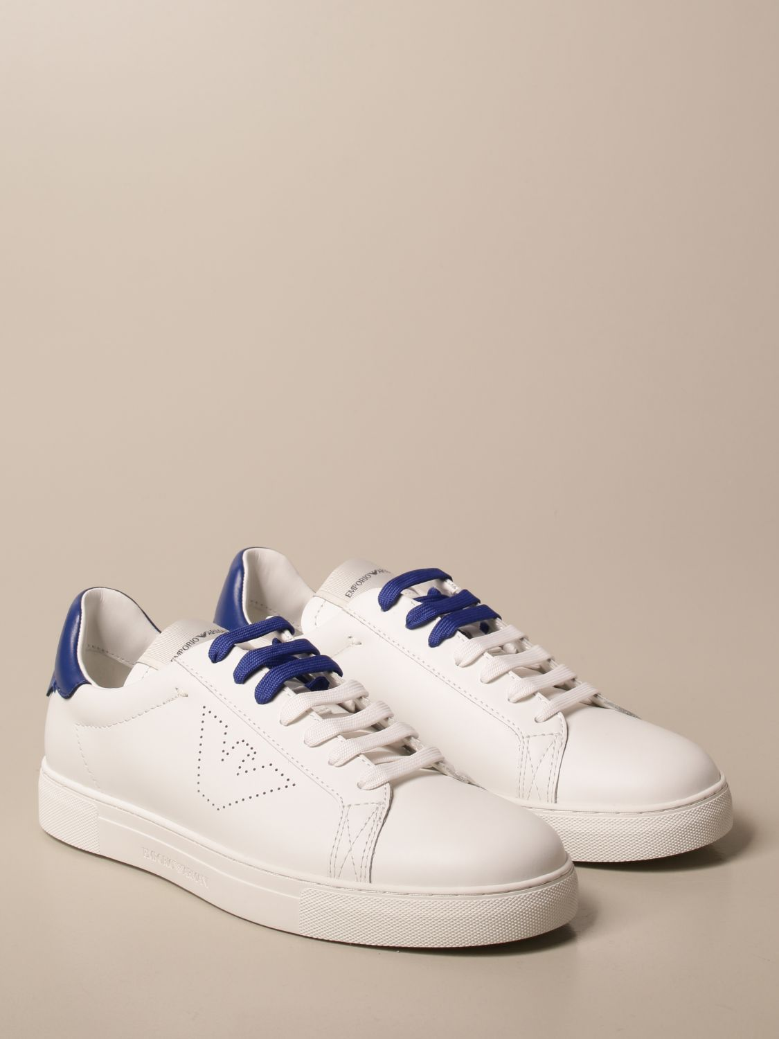 Sneakers Emporio Armani: Emporio Armani sneakers in leather white 2 2