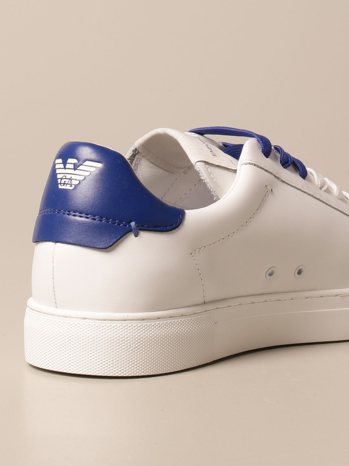 Sneakers Emporio Armani: Emporio Armani sneakers in leather white 2 3