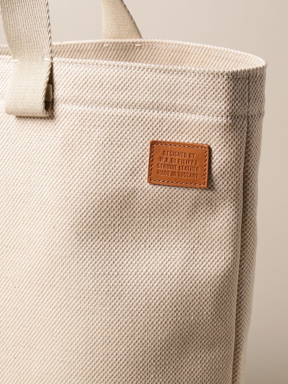Tote bags Il Bisonte: Shoulder bag women Il Bisonte yellow cream 3