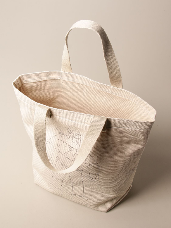 Tote bags Il Bisonte: Shoulder bag women Il Bisonte yellow cream 4
