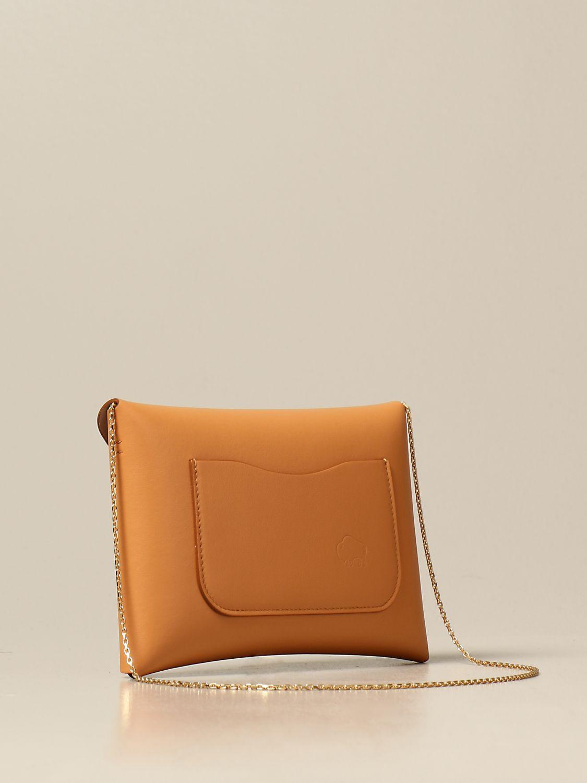 Shoulder bag Il Bisonte: Il Bisonte calf leather bag ocher 3