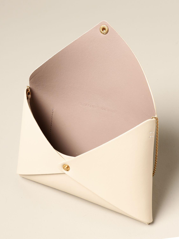 Shoulder bag Il Bisonte: Il Bisonte calf leather bag yellow cream 4