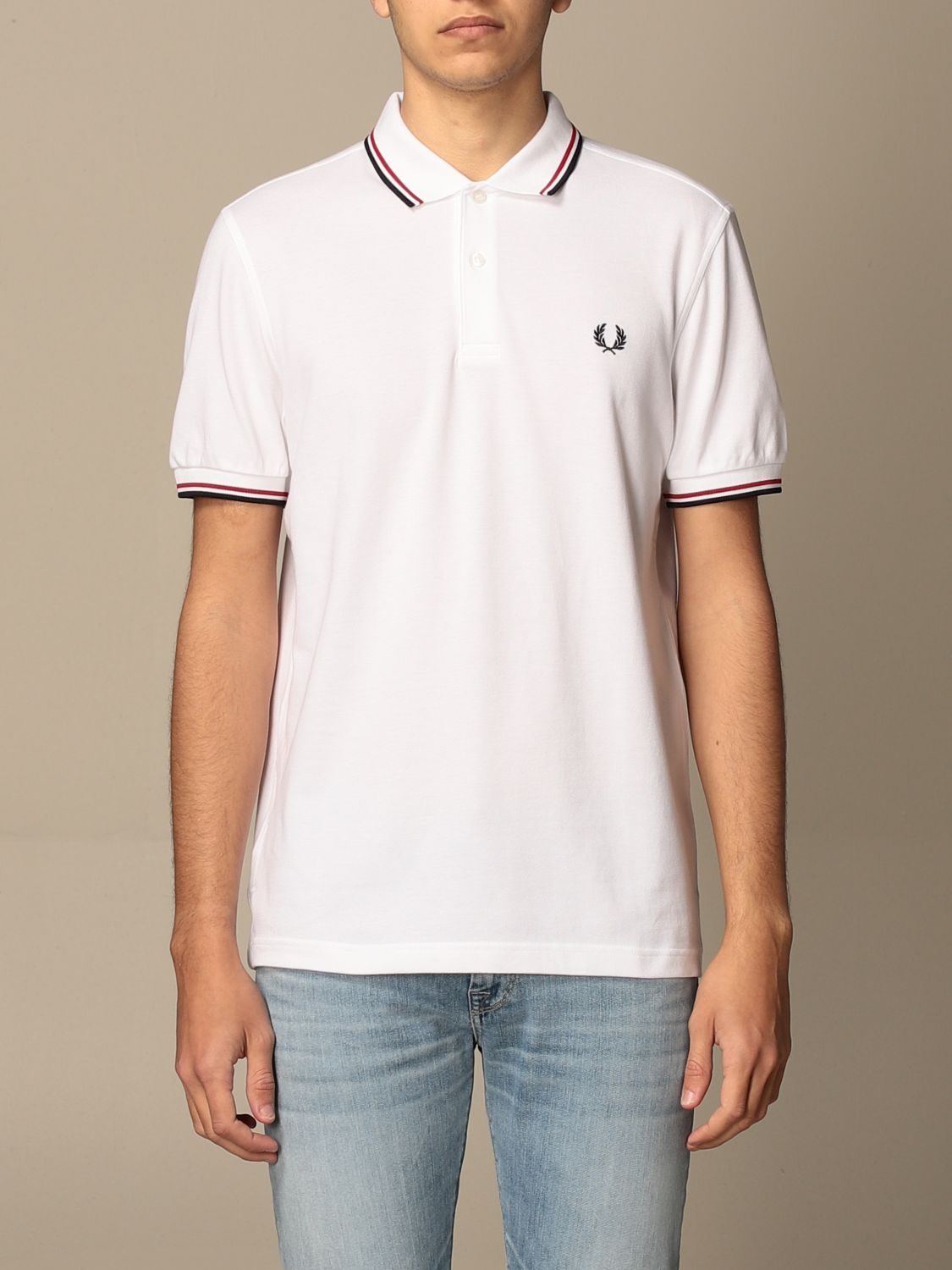 Polo shirt Fred Perry: Polo shirt men Fred Perry white 1