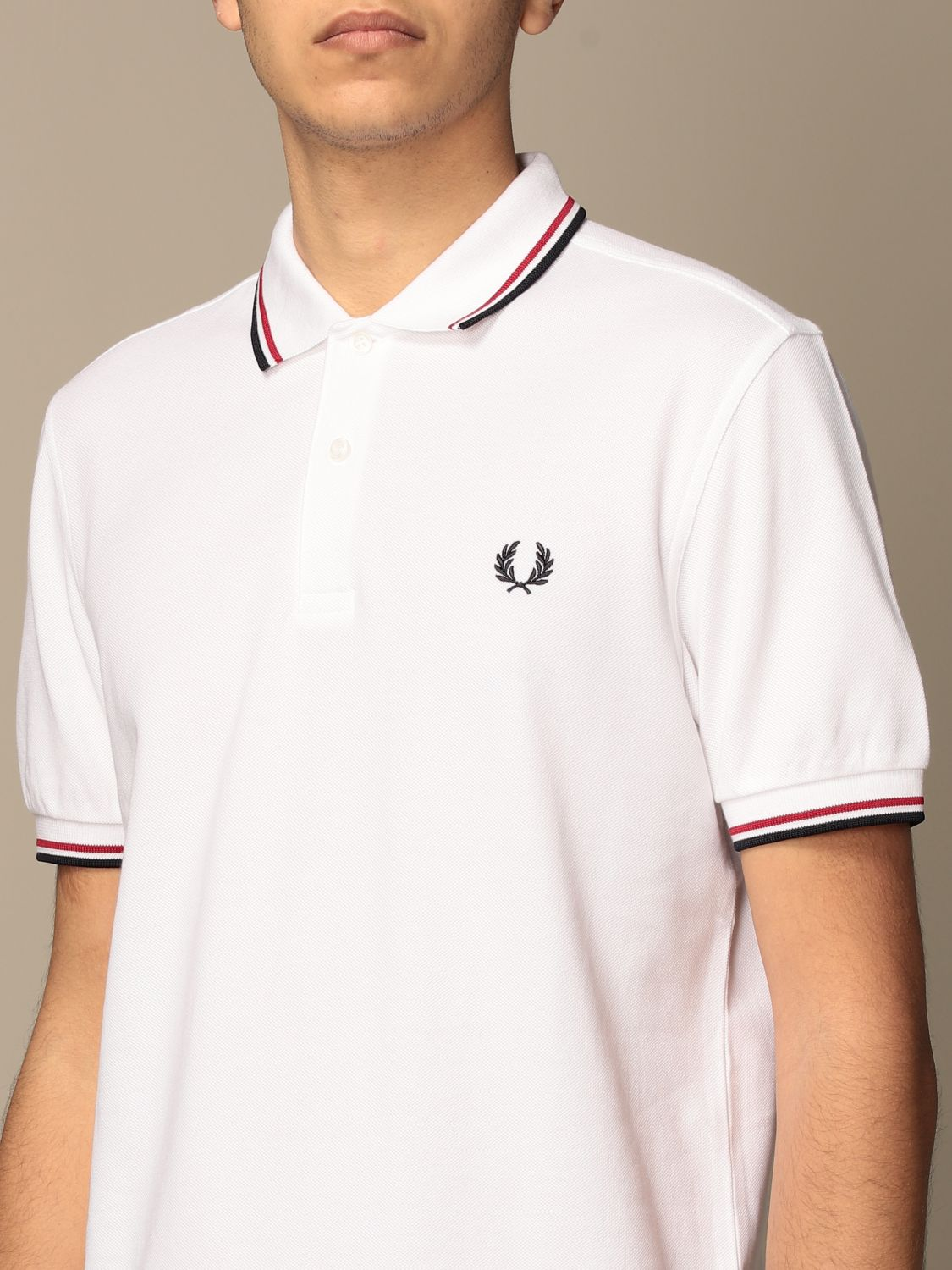Polo shirt Fred Perry: Polo shirt men Fred Perry white 3
