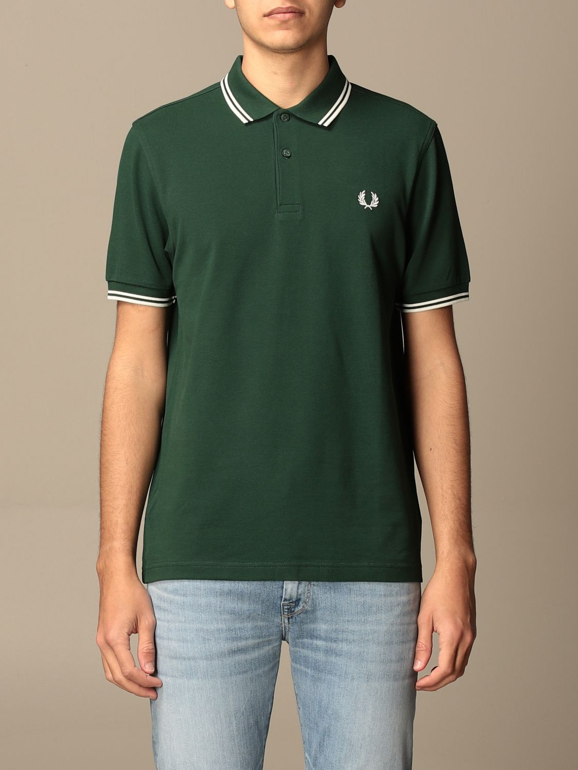 Polo Fred Perry: Polo hombre Fred Perry verde bosque 1