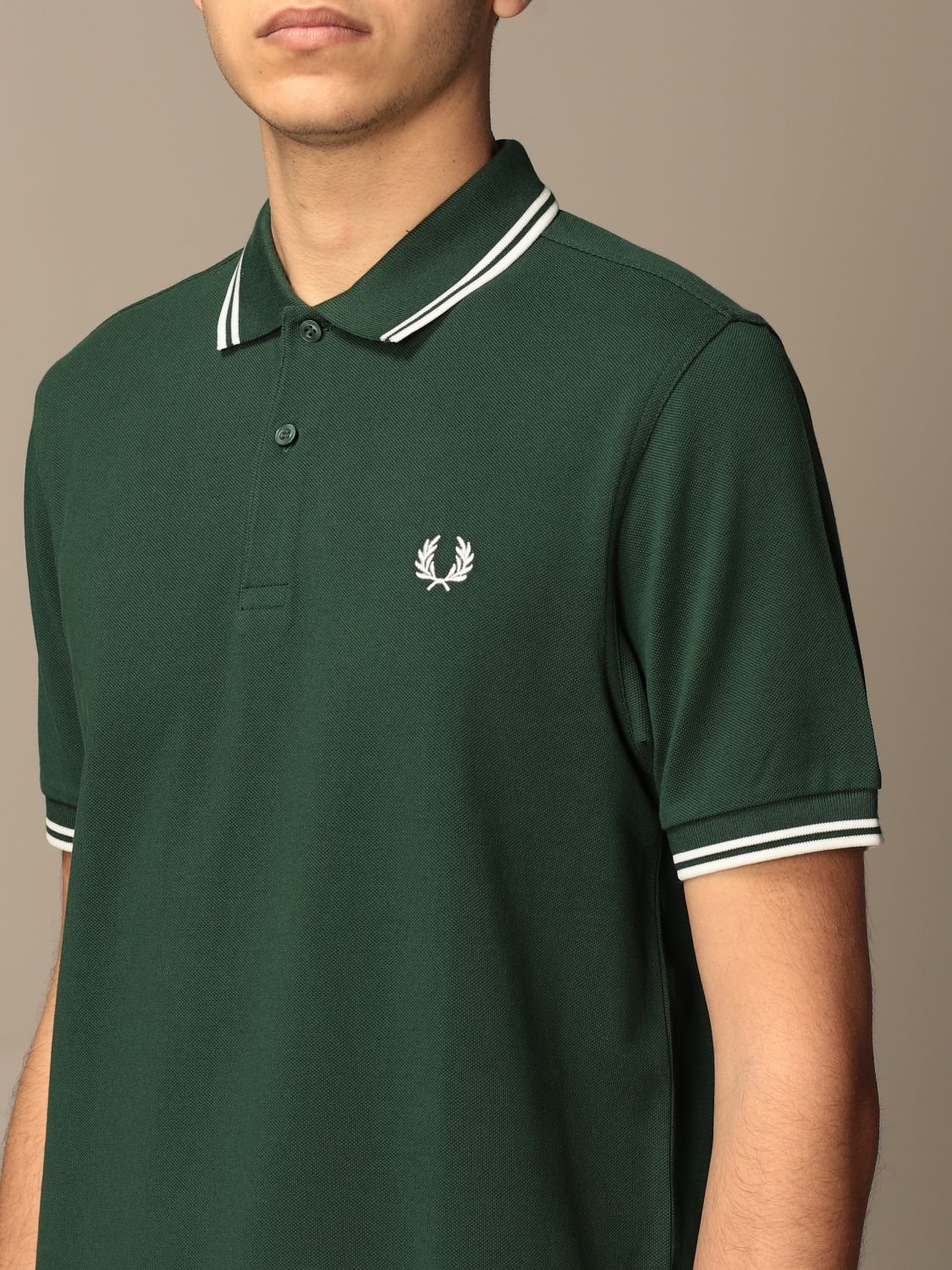 Polo Fred Perry: Polo hombre Fred Perry verde bosque 3