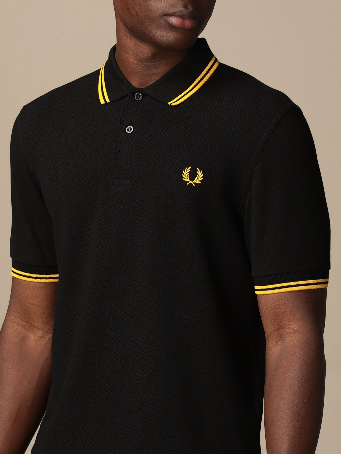 Polo Fred Perry: Polo homme Fred Perry noir 1 3