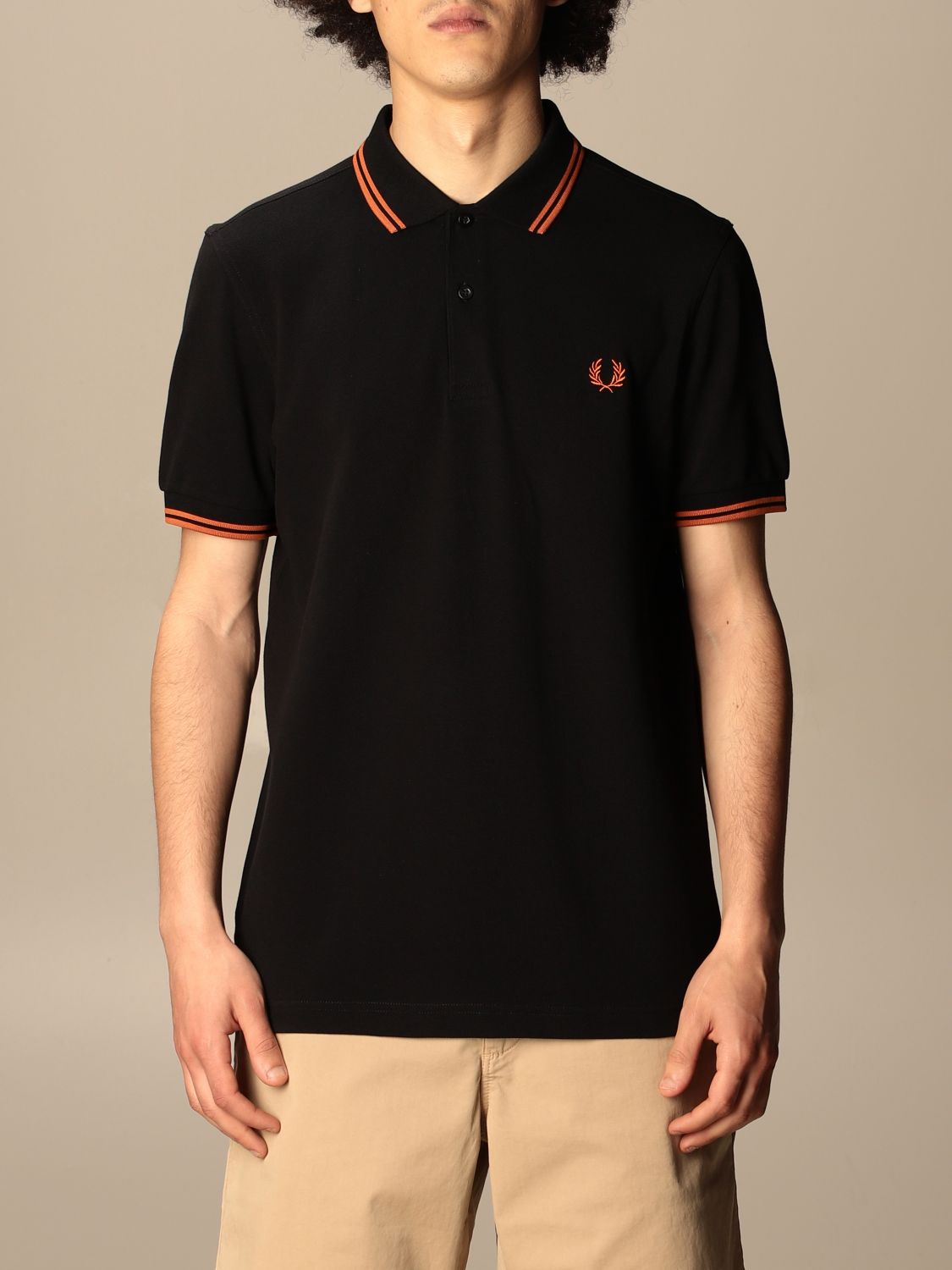 Polo Fred Perry: Polo hombre Fred Perry negro 4 1