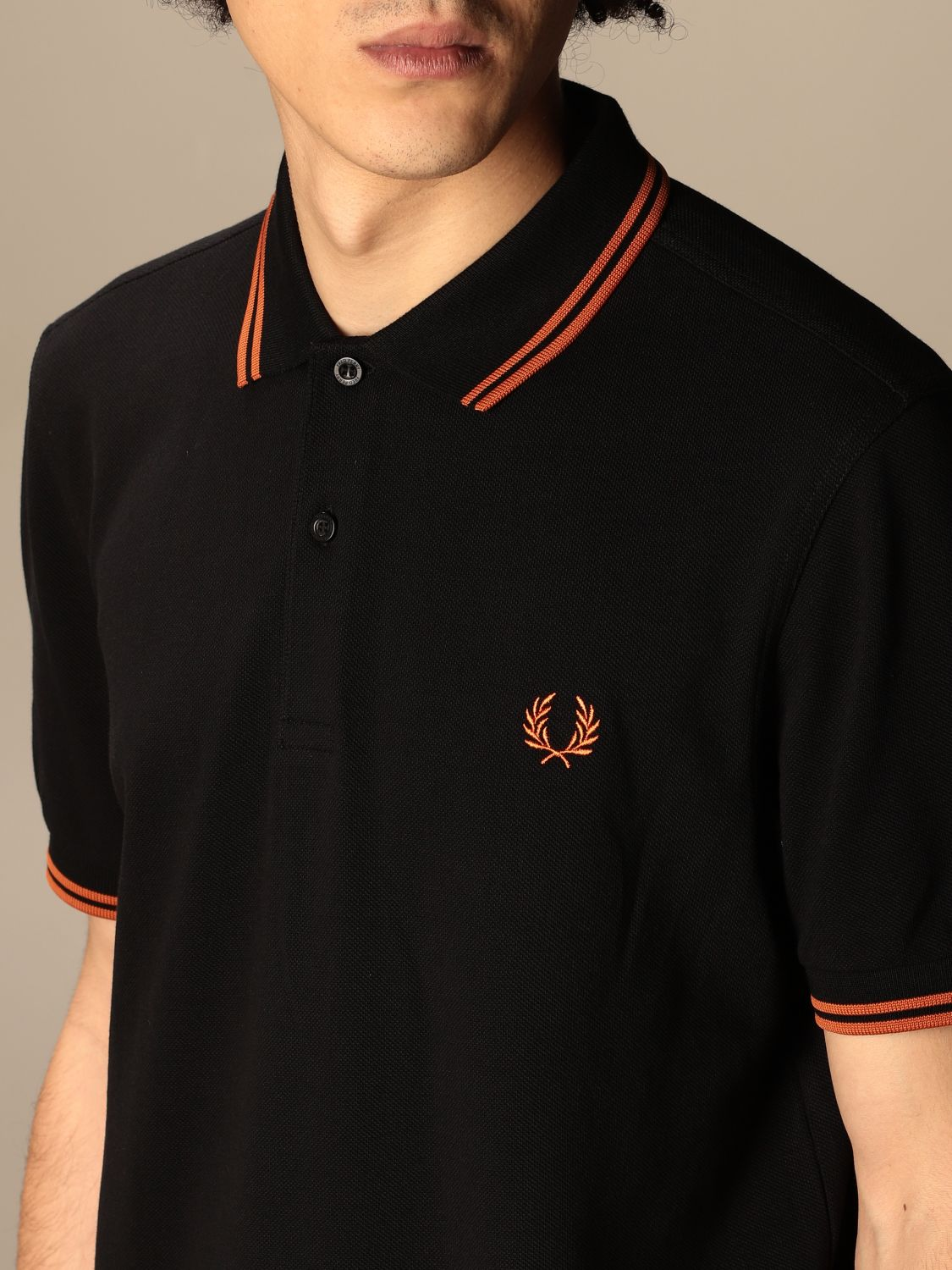 Polo Fred Perry: Polo hombre Fred Perry negro 4 3